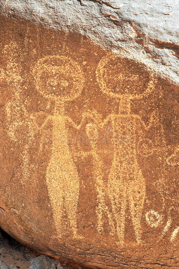 Download Ancient Rock Art In Niger Depicting Two Figures Stock Image - Image: 20602291