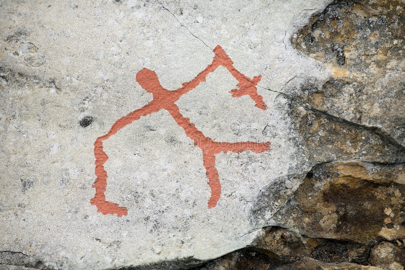 Ancient rock carvings. (petroglyphs) in Alta, Norway royalty free stock images