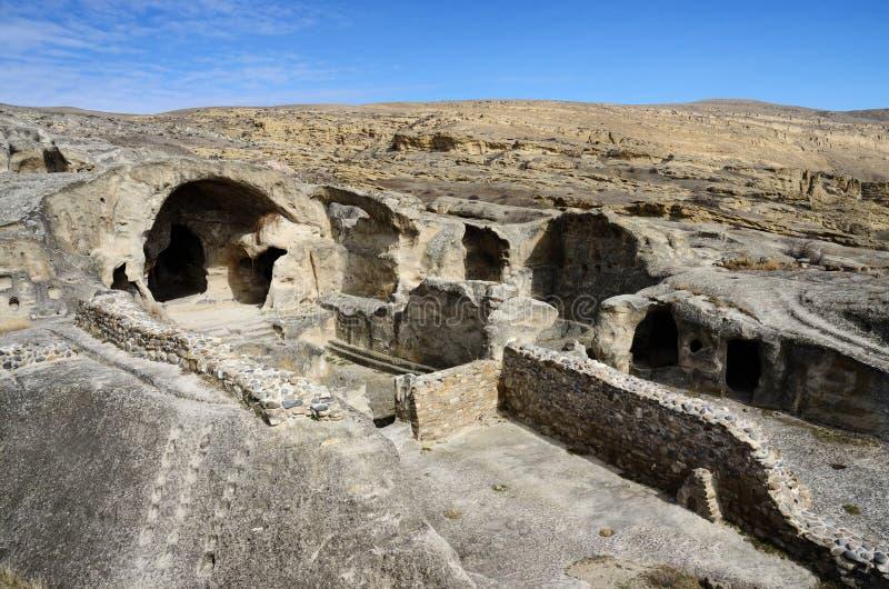 Ancient rock-hewn town Uplistsikhe in eastern Georgia,Caucasus stock images