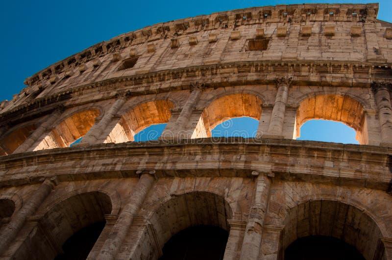 Ancient roman amphitheater Colloseum, Rome royalty free stock photography
