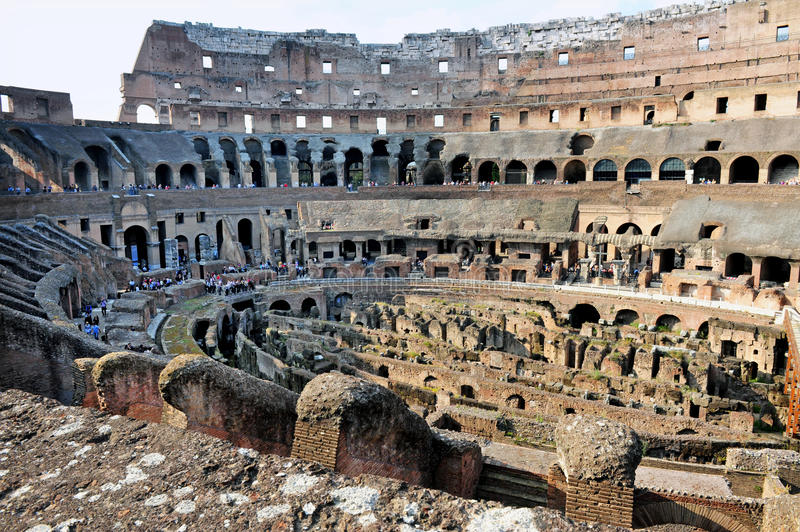 Ancient Roman Colosseum In Rome, Italy Royalty Free Stock