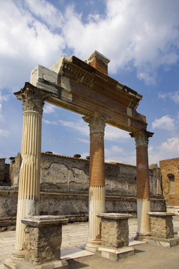 Ancient roman columns royalty free stock images