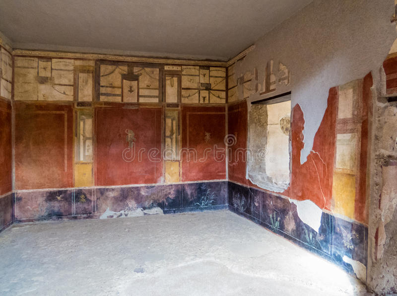 Ancient Roman House In Pompeii Stock Photo Image of colors