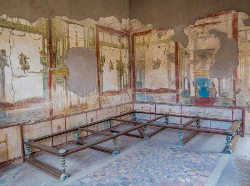 Ancient Roman House In Pompeii Stock Image Image of history