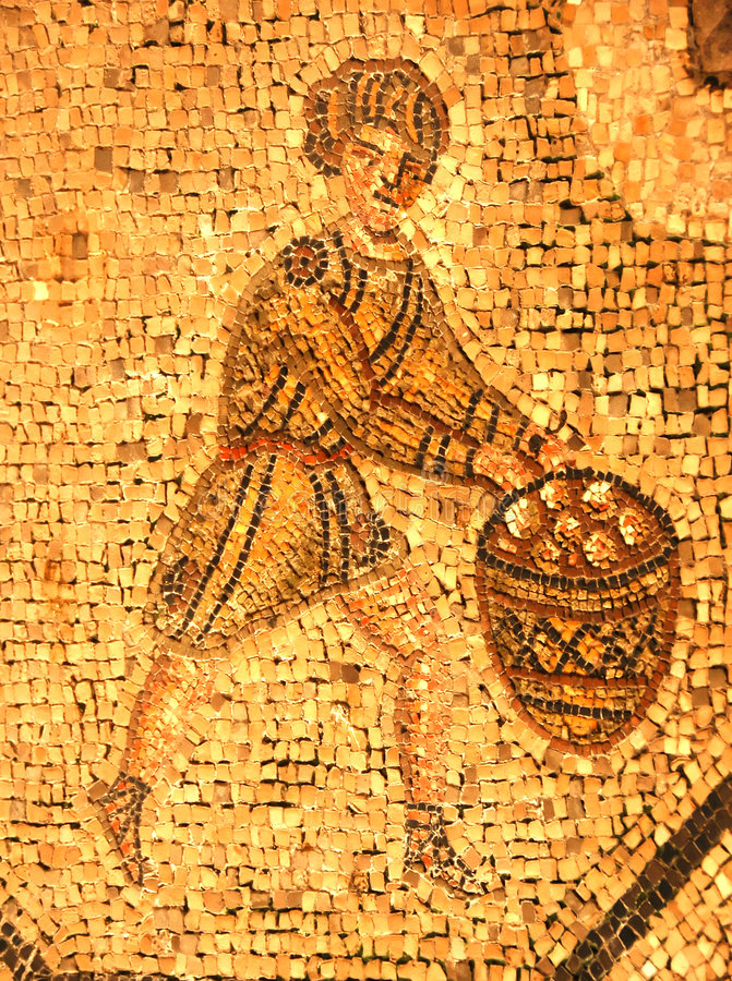 Free Ancient Roman Mosaic Of A Man In A Tunic Royalty Free Stock Images - 9218129