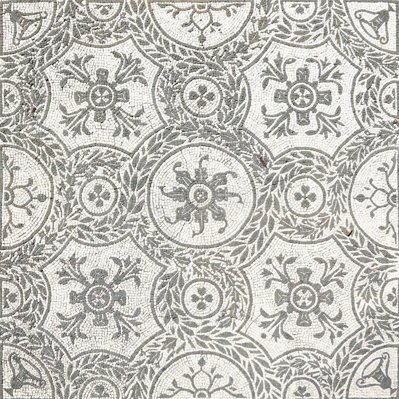 Ancient roman mosaic in Villa Adriana, Tivoli stock images