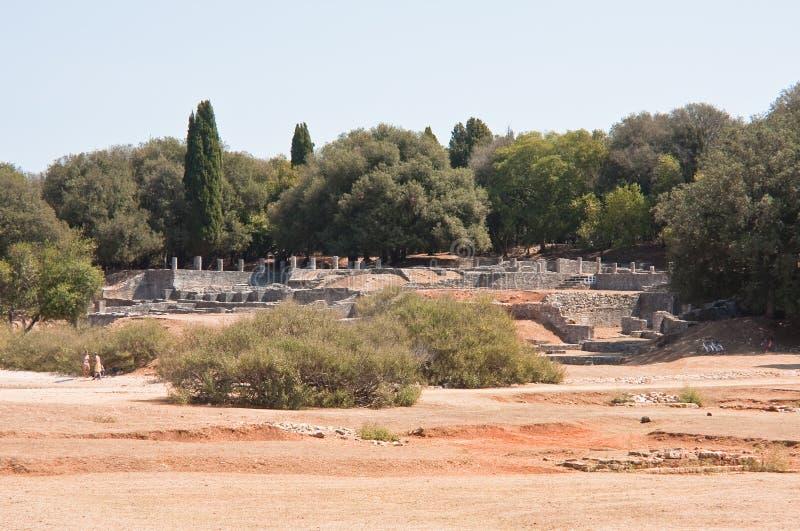 Ancient Roman ruins. Brijuni. Croatia royalty free stock image