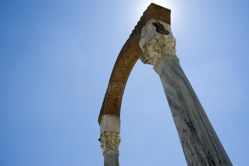 Ancient roman ruins of Minturno royalty free stock images