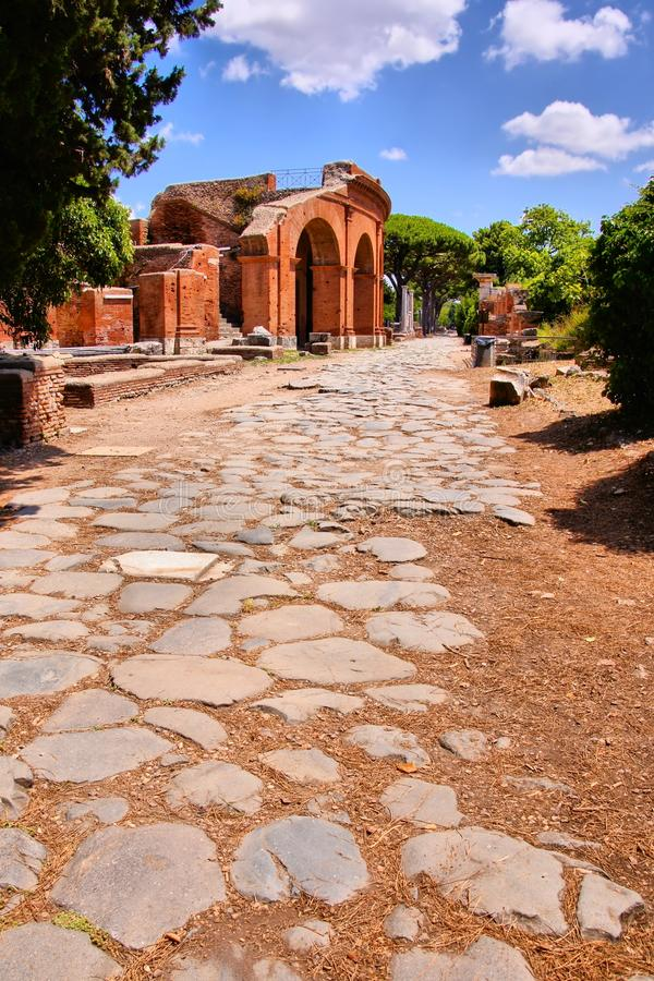 Ancient Roman ruins stock images