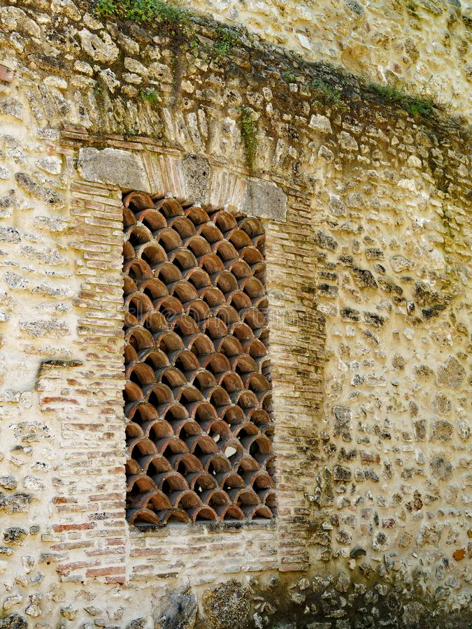 Ancient Roman Stone and Brick Building, Italy royalty free stock image