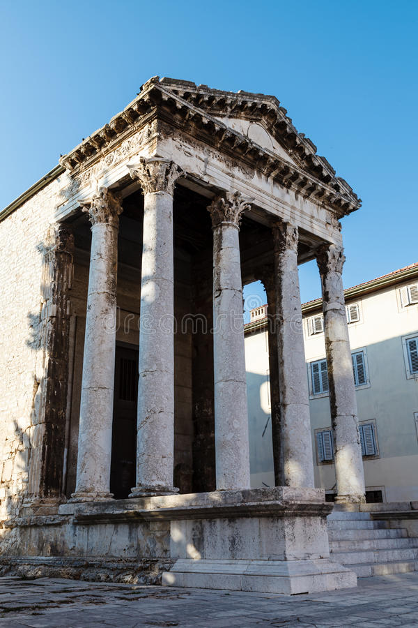 Download Ancient Roman Temple Of Augustus In Pula Stock Image - Image: 26240545