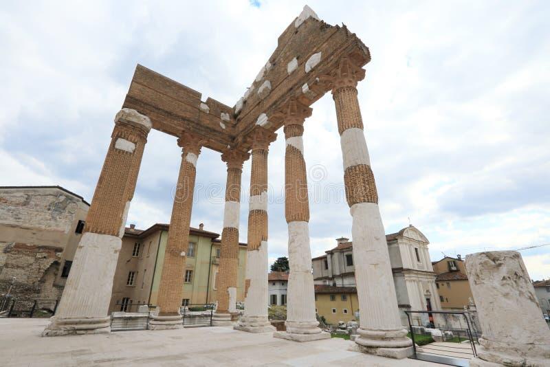Ancient Roman temple of Capitolium royalty free stock photo