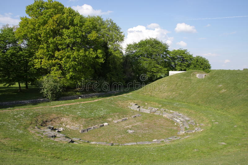 Ancient roman theater in Oise, France royalty free stock photos