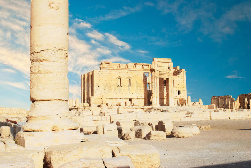 Ancient Roman time town in Palmyra, royalty free stock images