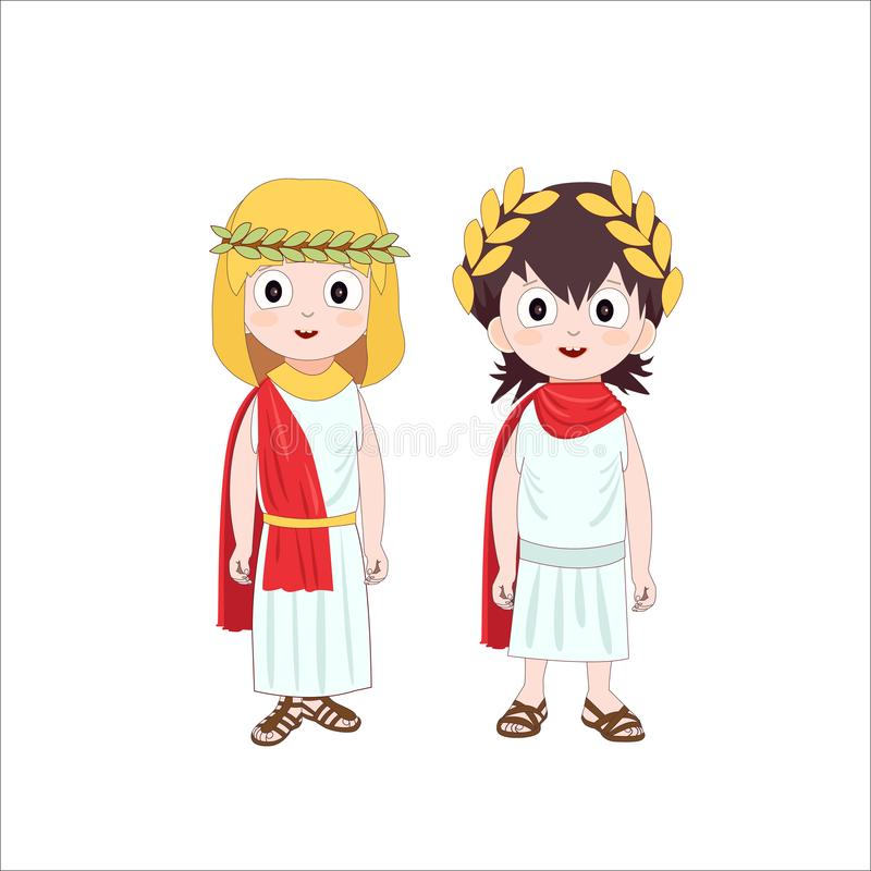 The Characters Of The Roman Empire. (Vector) Stock Vector