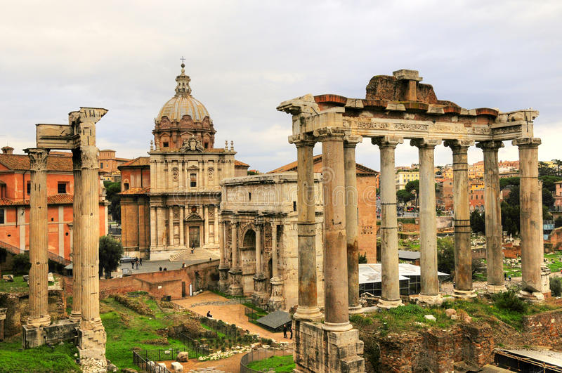 Ancient Rome Ruin Building Of Rome City Stock Photo