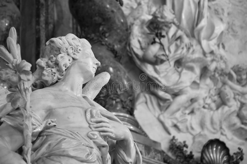 Ancient Rome Sculptures, Rome royalty free stock photos