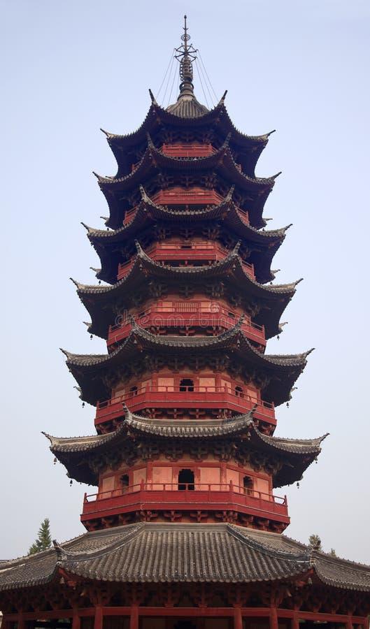 Ancient Ruigang Pagoda Suzhou China. Ancient Chinese Ruigang Auspicious Light Pagoda Dates Back to 1004 AD in Song Dynasty Suzhou China stock photography