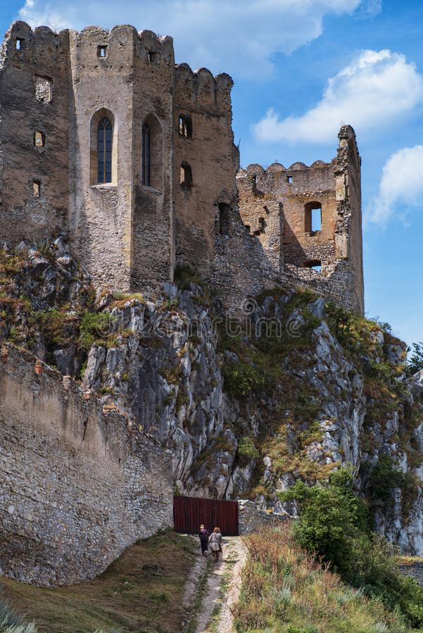 Ancient ruined castle Slovakia Ancient ruins. royalty free stock images