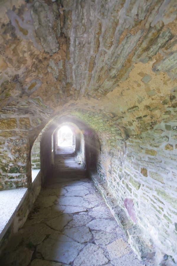 Ancient ruined St. Brigitta convent 1436 year in Pirita region, Tallinn, Estonia.  royalty free stock images
