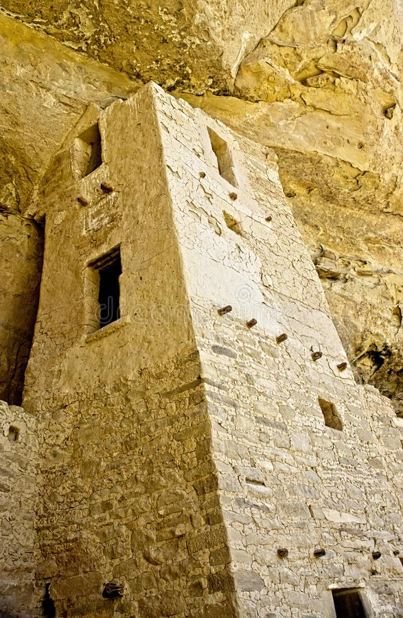 Mesa Verde Anasazi Cliff Dwellings. Ancient ruins are all that remain of the Anasazi Puebloan people that once lived at Cliff House at Mesa Verde, Colorado royalty free stock photos