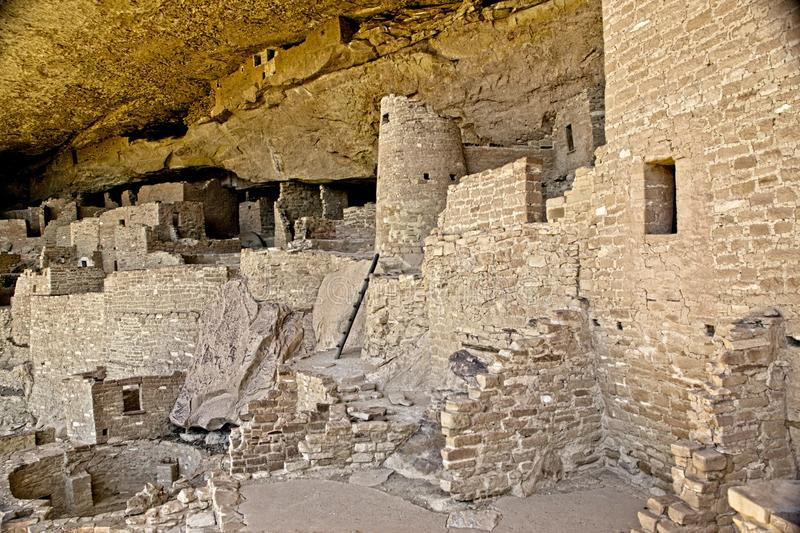 Mesa Verde Anasazi Cliff Dwellings. Ancient ruins are all that remain of the Anasazi Puebloan people that once lived at Cliff House at Mesa Verde, Colorado stock photos