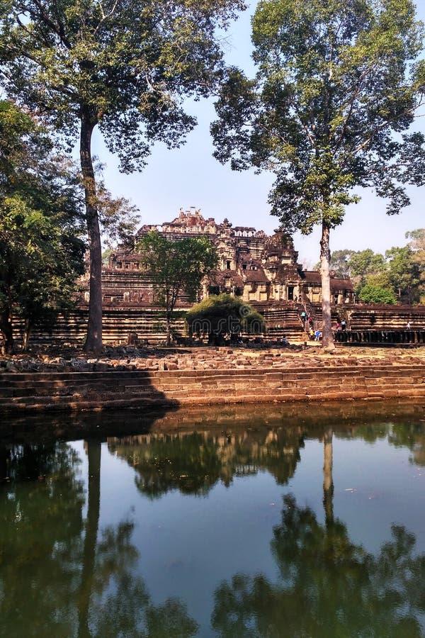 Ruins of Angkor Wat in Cambodia royalty free stock photography