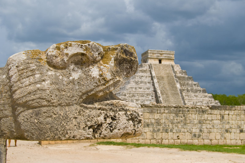 Ancient ruins, central america royalty free stock photo