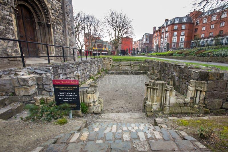 Ancient Ruins Christ Church Dublin royalty free stock image