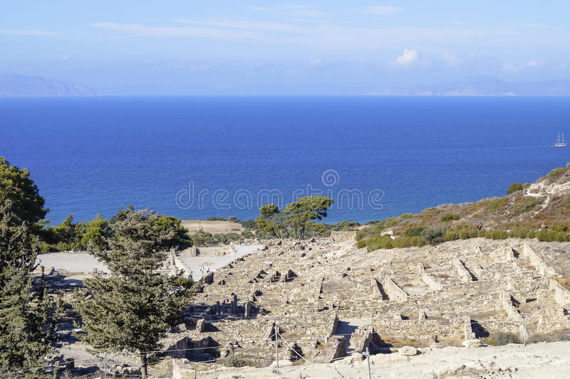 Ancient ruins and coast royalty free stock images