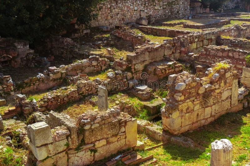 Ancient ruins on greece royalty free stock image