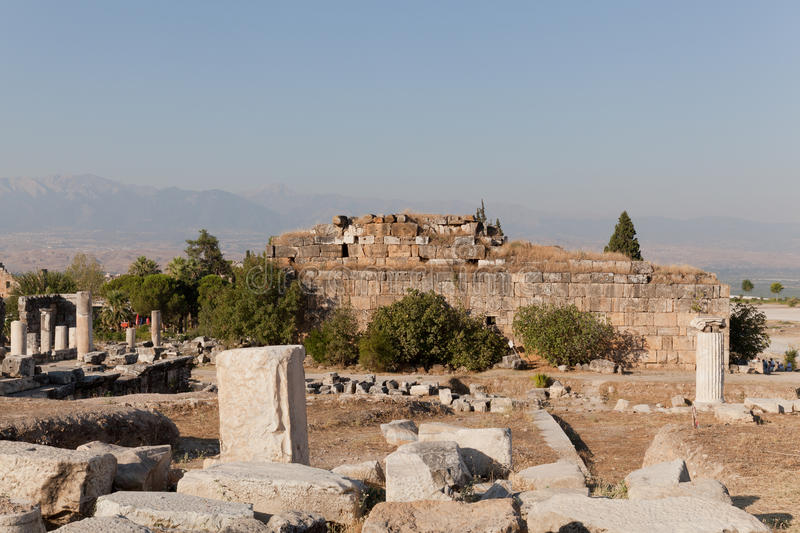 Ancient Ruins Hierapolis. Turkey Royalty Free Stock Photos