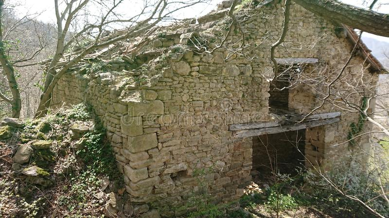 Ancient Ruins. Of a house dating back to 1632 royalty free stock photo