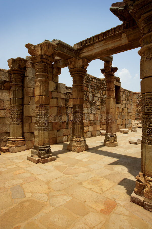 Ancient ruins in India royalty free stock image