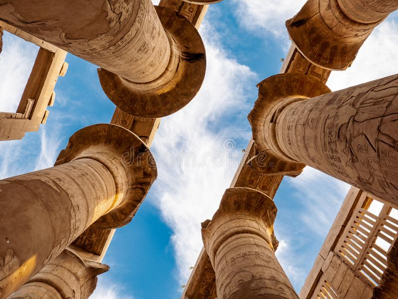 The ancient ruins of the Karnak temple in Egypt, Luxor royalty free stock photography