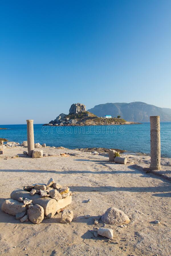 Ancient ruins on Kos island, Greece royalty free stock photography