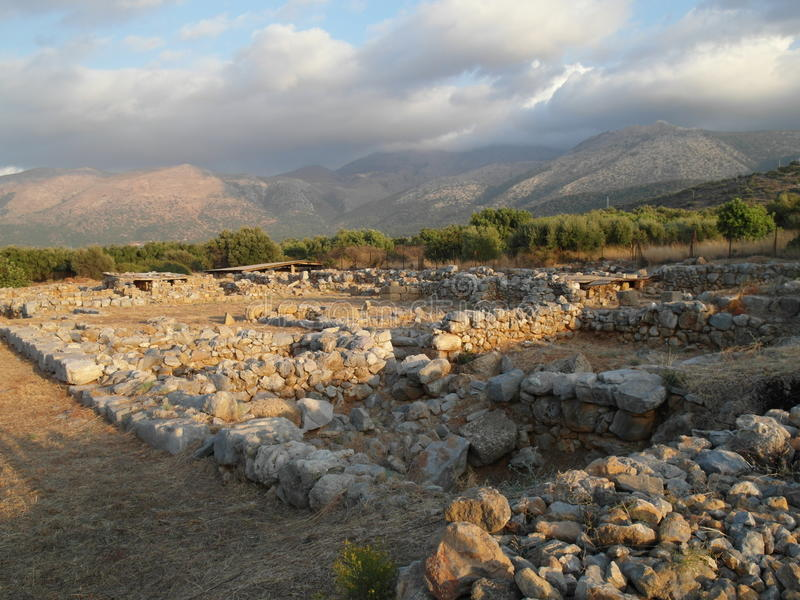 Download Ancient ruins Malia stock photo. Image of sites, down - 26057868