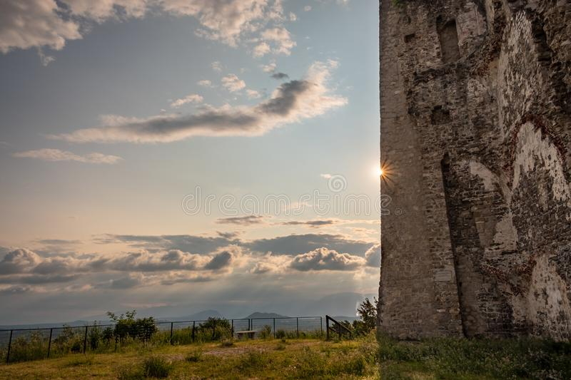 Ancient ruins of a medieval castle in the countryside of Friuli Venezia-Giulia, Italy royalty free stock photos