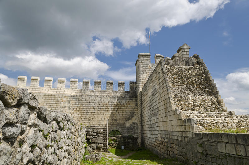 Ancient ruins of a medieval fortress close to the town of Shumen, Bulgaria stock images