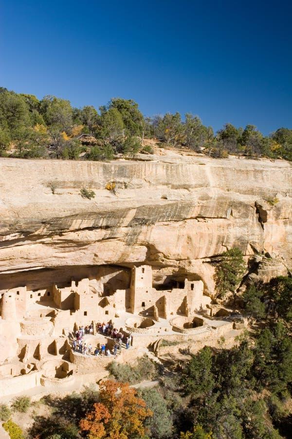 Ancient ruins, Mesa Verde, Colorado stock photography