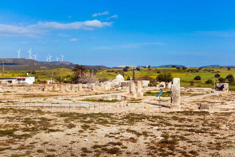 Ancient Ruins In Paphos, Cyprus Stock Photo