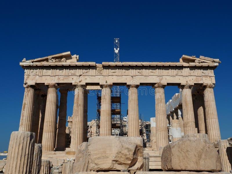 Parthenon Ancient Ruin Undergoing Renovation royalty free stock photos