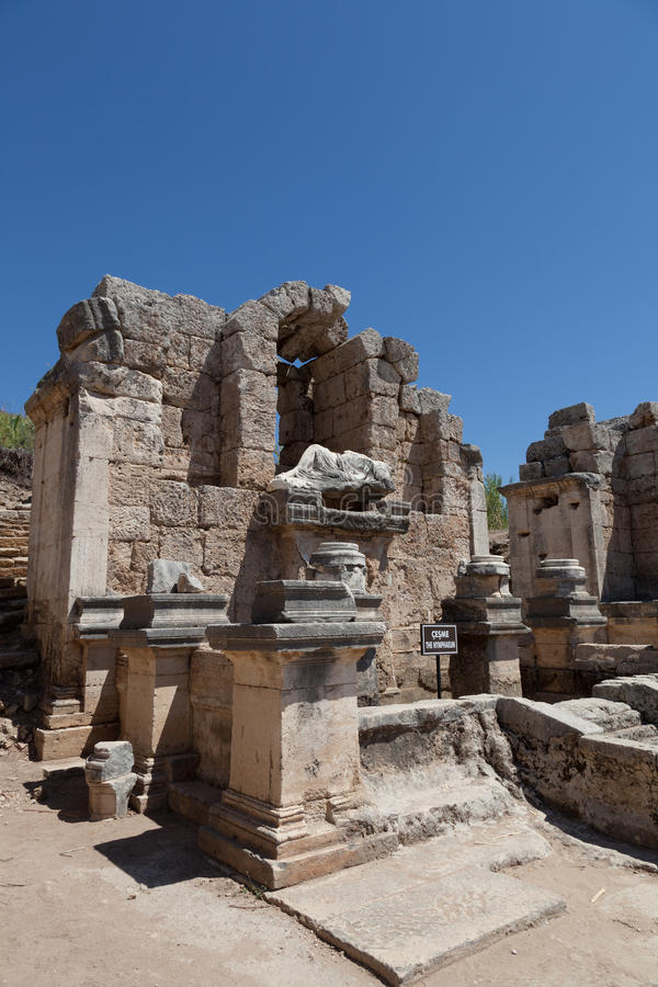 Download Ancient Ruins Perge Turkey stock image. Image of greek - 21147581