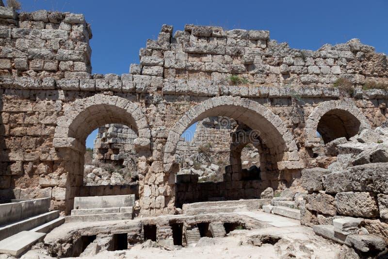 Ancient Ruins Perge Turkey Stock Photo