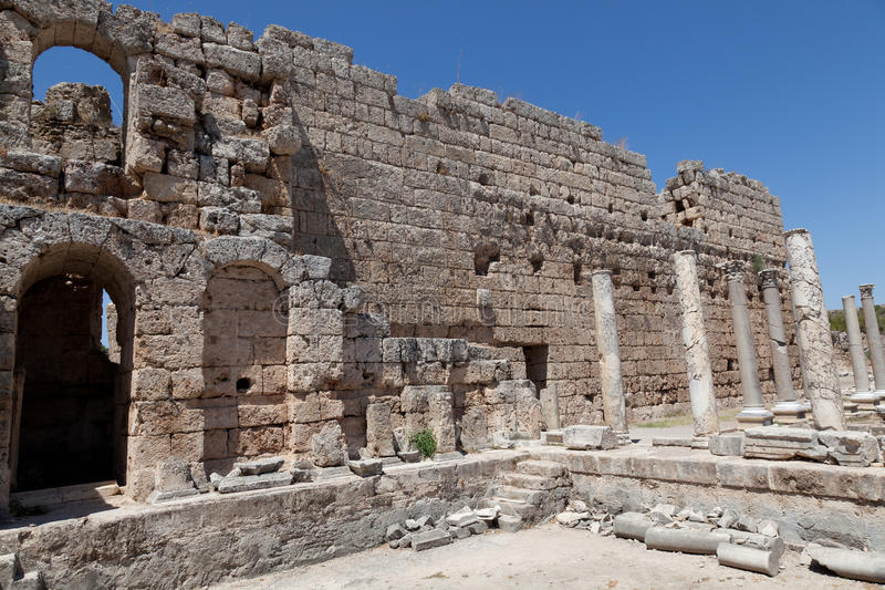 Download Ancient Ruins Perge Turkey Royalty Free Stock Image - Image: 21231366