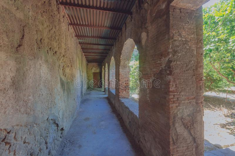 Ruins of Pompeii, italy. Ancient ruins of Pompeii, italy royalty free stock images