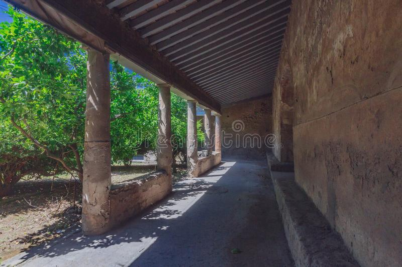 Ruins of Pompeii, italy. Ancient ruins of Pompeii, italy stock image