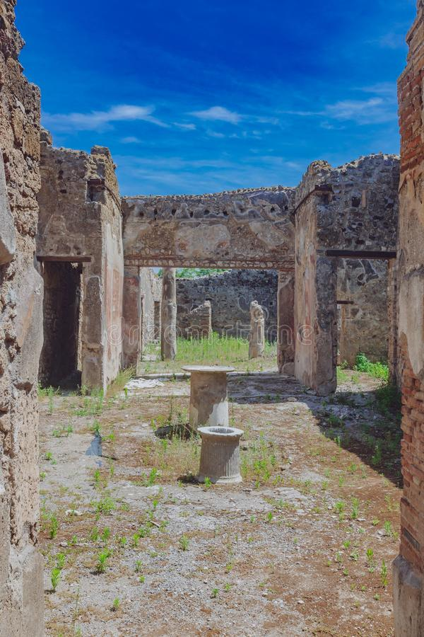 Ruins of Pompeii, italy. Ancient ruins of Pompeii, italy royalty free stock image