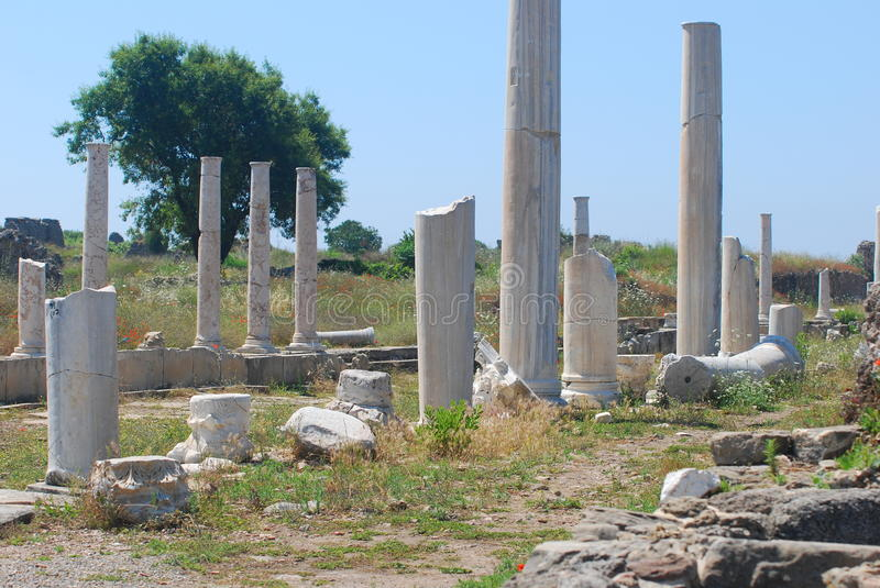 Download Ancient  ruins of Side stock image. Image of turkish - 25155221