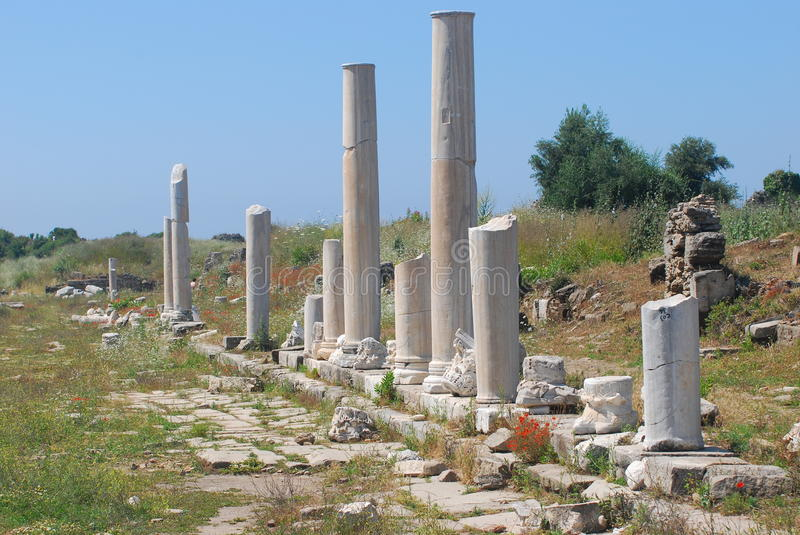 Download Ancient  ruins of Side stock photo. Image of ruins, turkey - 25155234